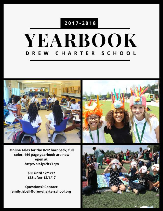 17-18 Drew_Charter_Yearbook_flier1