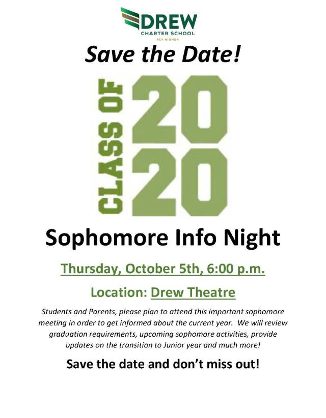 17-18 Sophomore Info Night