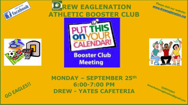 Booster Club Meeting Announcement 9.25.17
