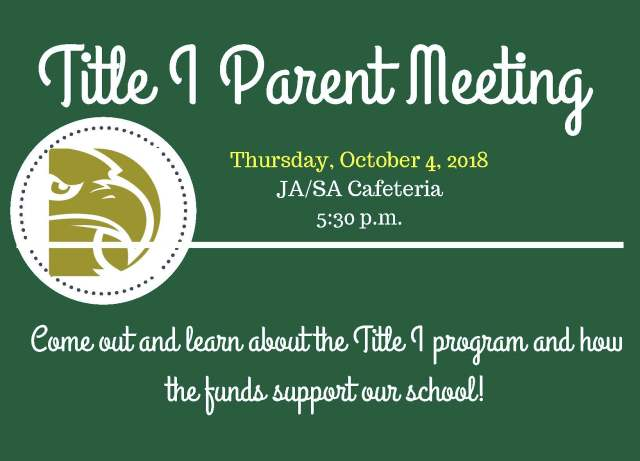 0925- Title I Parent Meeting Flyer