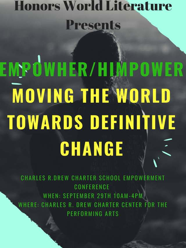 Charles R.Drew charter School Empowerment Conference September 29th